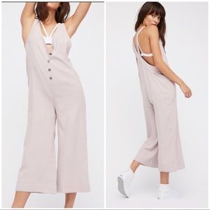 Free people on the run jumpsuit with buttons